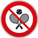 Kein Tennisbetrieb erlaubt