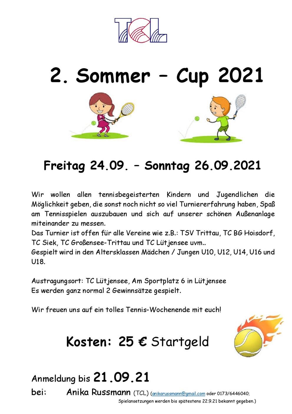 2. TCL Sommer-Cup 2021 - 24.-26.09.2021